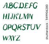 hand drawn alphabet. brush... | Shutterstock . vector #549906280