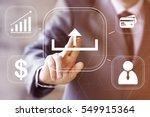 businessman pressing button... | Shutterstock . vector #549915364