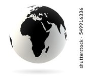 highly detailed earth globe... | Shutterstock .eps vector #549916336