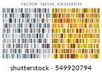 vector set of gold and silver... | Shutterstock .eps vector #549920794