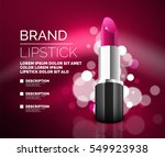 Vector Realistic Pink Lipstick...