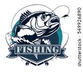 bass fish. perch fishing vector ... | Shutterstock .eps vector #549926890