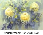 White Yellow Chrysanthemum...