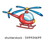 red toy helicopter isolated. | Shutterstock .eps vector #549934699