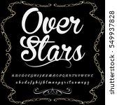 script font typeface over stars ... | Shutterstock .eps vector #549937828