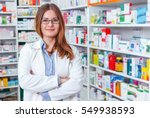 Cheerful pharmacist chemist...