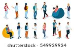 trendy isometric young people ... | Shutterstock .eps vector #549939934