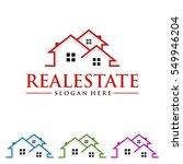 real estate vector logo design... | Shutterstock .eps vector #549946204
