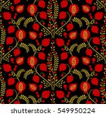 red pomegranate on a black... | Shutterstock .eps vector #549950224