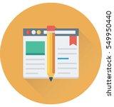 web designing vector icon | Shutterstock .eps vector #549950440