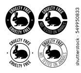 cruelty free emblem. not tested ... | Shutterstock .eps vector #549950833