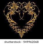 golden arabesque with gems | Shutterstock . vector #549962068