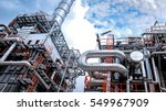 close up industrial view at oil ... | Shutterstock . vector #549967909