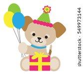 a cute little brown puppy is...   Shutterstock .eps vector #549973144