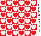 vivid red color heart checked... | Shutterstock .eps vector #549975223