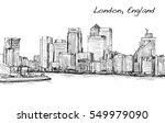 sketch cityscape of london ... | Shutterstock . vector #549979090
