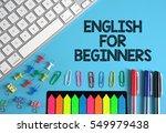 english for beginners | Shutterstock . vector #549979438