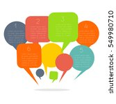 infographics design with speech ... | Shutterstock .eps vector #549980710