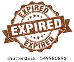 expired. stamp. sticker. seal.... | Shutterstock .eps vector #549980893
