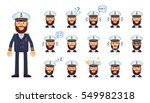 set of navy captain emoticons....