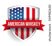 american whiskey ribbon on usa... | Shutterstock .eps vector #549982630