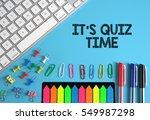 it's quiz time | Shutterstock . vector #549987298