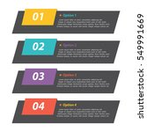 vector colorful info graphics | Shutterstock .eps vector #549991669