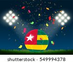 togo flag in soccer ball with...