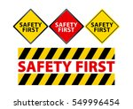 illustration of sign for safety ... | Shutterstock .eps vector #549996454