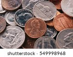American Penny Money And Coins...