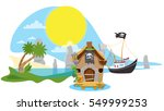 a set of illustrations on the... | Shutterstock .eps vector #549999253