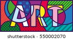 art pop art illustration. pop... | Shutterstock .eps vector #550002070