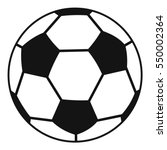 soccer ball icon. simple... | Shutterstock .eps vector #550002364