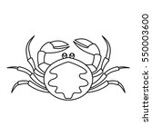 crab seafood icon. outline... | Shutterstock .eps vector #550003600