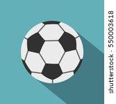 Soccer Ball Icon. Flat...