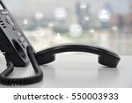 ip phone with icon   cencept... | Shutterstock . vector #550003933