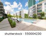 modern residential buildings... | Shutterstock . vector #550004230