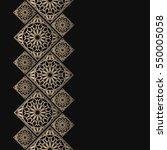 golden frame in oriental style. ... | Shutterstock .eps vector #550005058