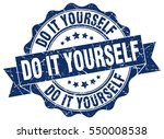 do it yourself. stamp. sticker. ... | Shutterstock .eps vector #550008538