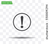 exclamation mark. exclamation... | Shutterstock .eps vector #550009294