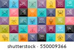 thin lines icons set with... | Shutterstock .eps vector #550009366
