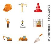 building tools icons set.... | Shutterstock . vector #550013938