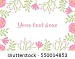 greeting card or invitation...   Shutterstock .eps vector #550014853