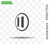 pause button vector icon | Shutterstock .eps vector #550017523