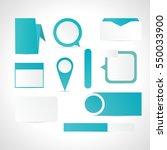 set of white blue web elements...