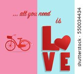 valentine's day background with ... | Shutterstock .eps vector #550034434