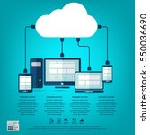 cloud computing   devices... | Shutterstock .eps vector #550036690
