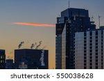 sunrise in portland buildings... | Shutterstock . vector #550038628