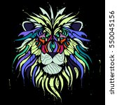 abstract color lion | Shutterstock .eps vector #550045156