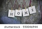 concrete wall with paint  words ... | Shutterstock . vector #550046944